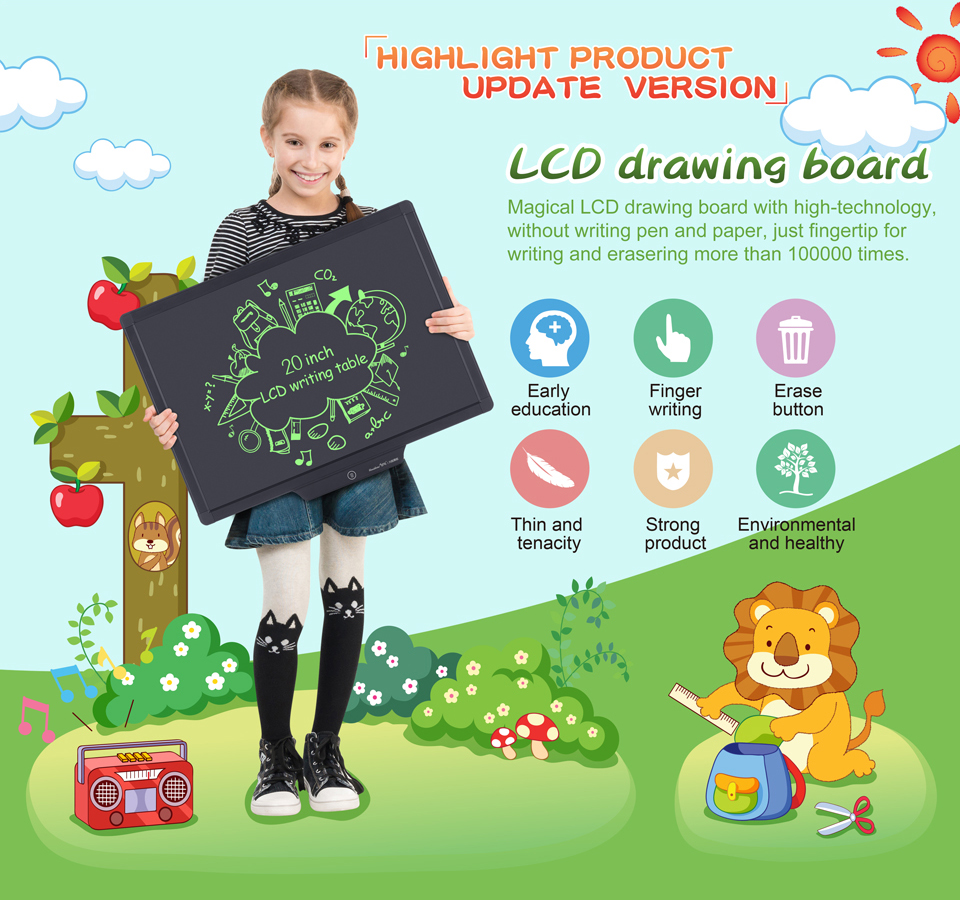 20 Inch LCD tablet writing board